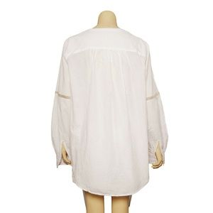 Free People Tops - Free People Shirt Top L Cotton Blouse Tunic 11255